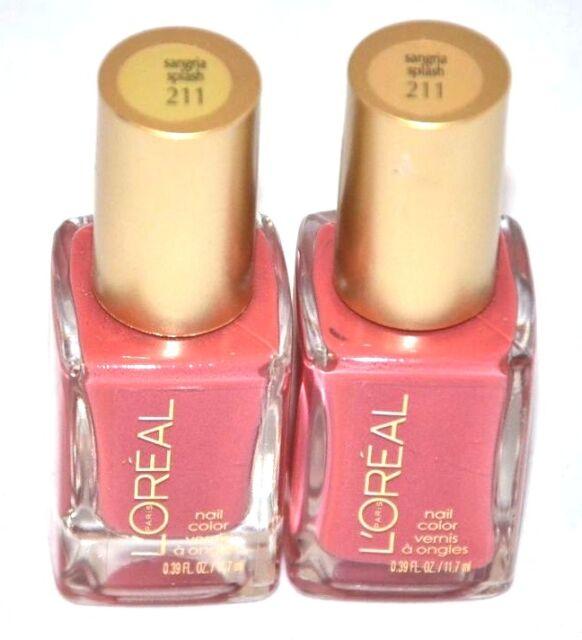 L\'oreal Nail Polish Color Sangria Splash 211 | eBay