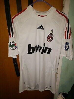 Ac Milan White Away 2008-09 David Beckham Shortsleeve Size Médium. Used | eBay