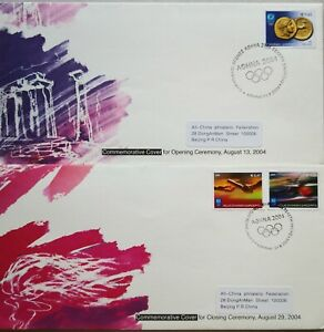 China-FDC-2-pcs-2004-The-XXVIII-Summer-Olympics-Games