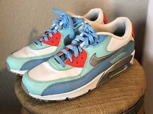 Details about NIKE AIR MAX 90 LEATHER GS 724852 100 Shoes Sneakers Youth 7 Womens 8.5 EUC