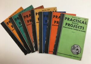 7 VINTAGE DELTA PRACTICAL PROJECTS BOOKLETS -1930s  BOOKS 2, 3, 4, 5, 7, 10, 11