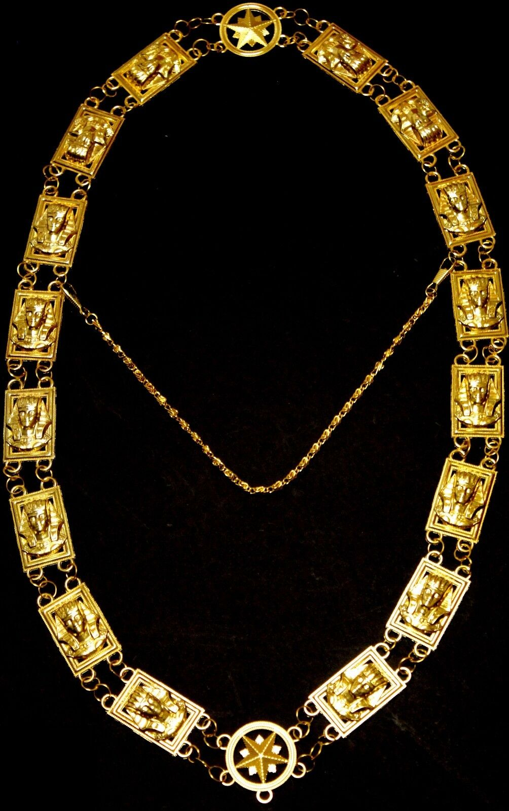 REGALIA MASONIC Shriner/'s Dress GOLD METAL CHAIN COLLAR RED VELVET DMR-600GR