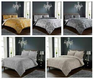 Luxuries-Royal-demask-Impreso-Reversible-Funda-De-Edredon-Funda-de-almohada-Juego-de-cama-LW