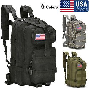 USA 30L Military Outdoor Tactical Shoulder Backpack Rucksack Camping Hiking Bag
