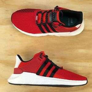 super popular c31b4 1f619 Image is loading Adidas-Support-EQT-93-17-Scarlet-Red-Core-