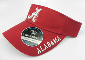 ALABAMA-CRIMSON-TIDE-BAMA-FOOTBALL-UNIVERSITY-NCAA-CARDINAL-VISOR-CAP-HAT-NEW