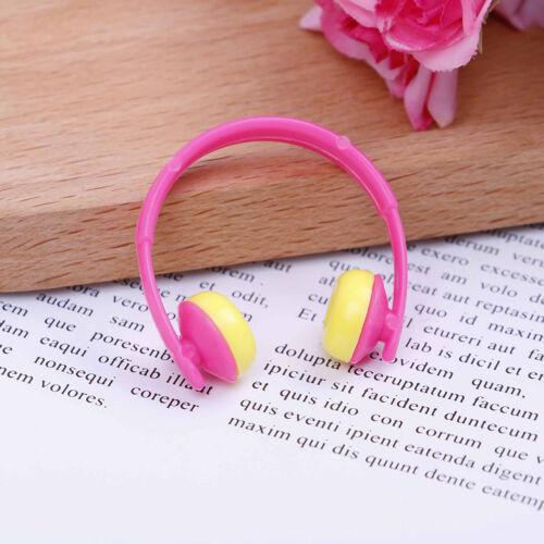 5PCS For Doll acessories plastic headphones multicolor mixed TOODUS