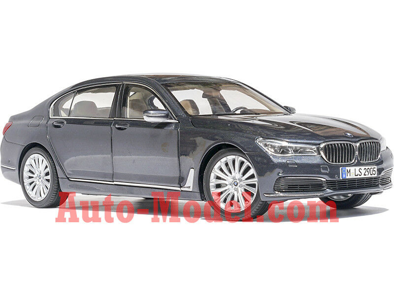 1 18 Paragon 2016 2016 2016 BMW 750Li Sophisto Grey Metallic Dealer Edition 2ac9dc