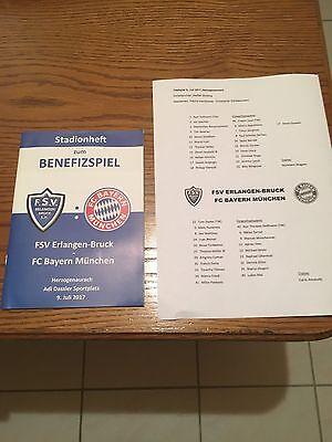 Stadion Programm Benefizspiel FSV Erlangen-Bruck FC Bayern München 09.07.2017