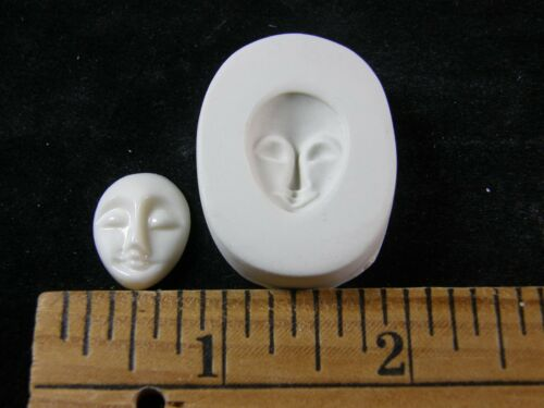 Goddess Face #MD1503 Small Polymer Clay Mold Beehive Emporium Outlet