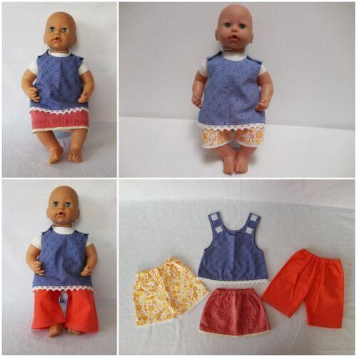 MepsiDesigns Handmade Puppenkleidung div Kombi-Sets 4tlg für 46cm Baby Annabell Kleidung & Accessoires