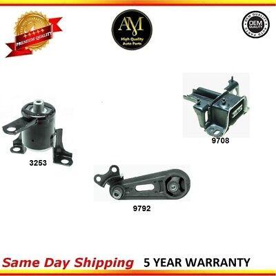 Engine Motor /& Transmission Mount Set 3PCS 1992-1995 for Mazda MX-3 1.8L