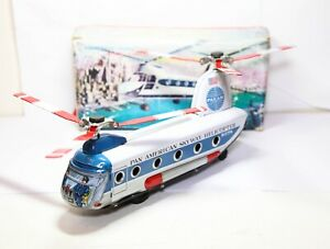 DAIYA-Toys-Japan-Pan-American-Skyway-Helicopter-In-Its-Original-Box-PANAM-RARE