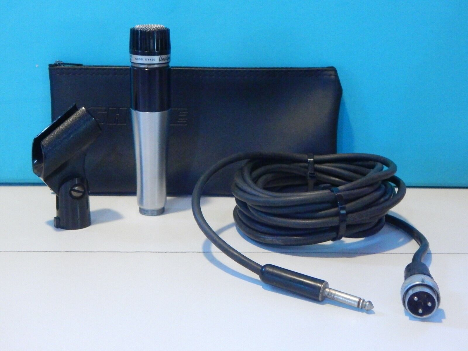 Vintage 1960S Shure DY45G Dynamic Microphone And Accessories Electro Voice USA