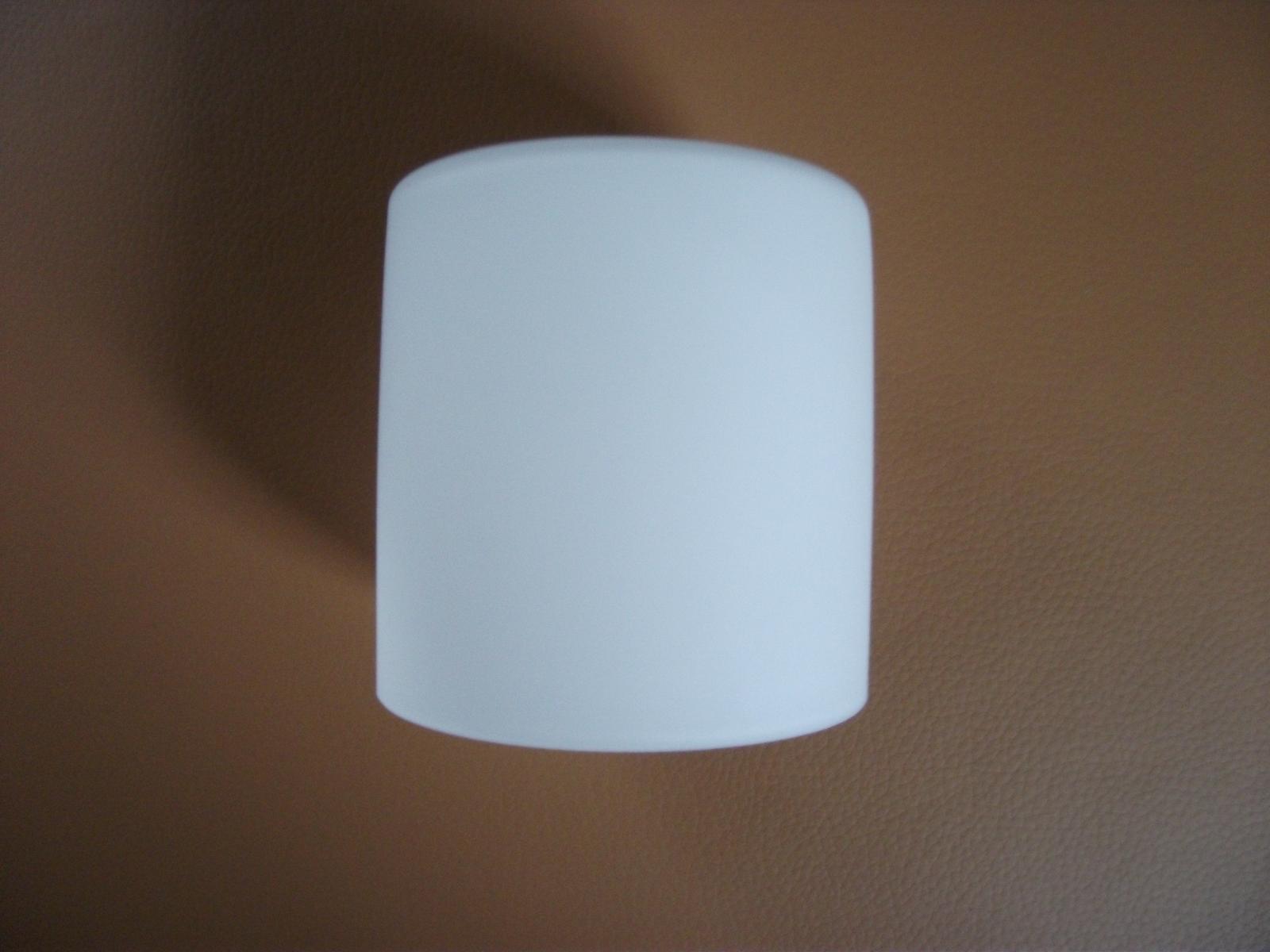 10 x Lampen Ersatzglas E 14 Rund 100 mm   Opal Weß