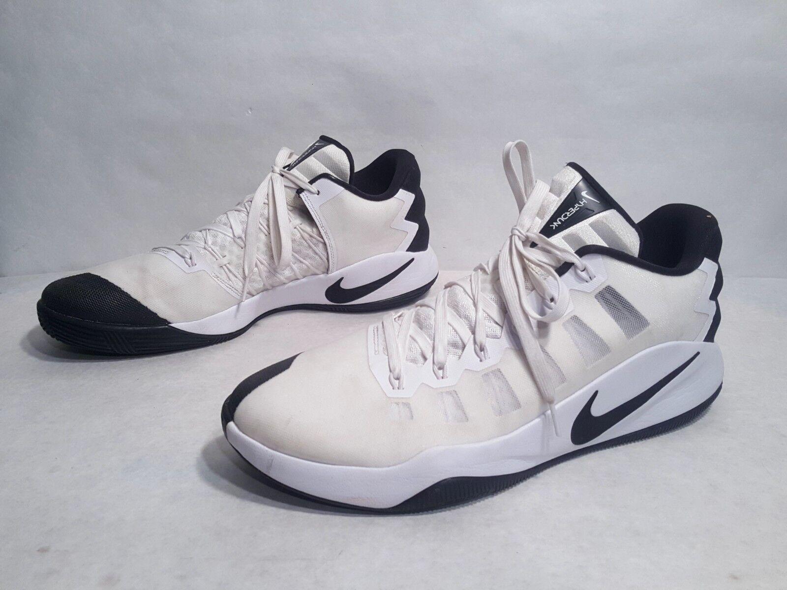 EUC Nike Hyperdunk 2016 Ivory White Black Low Top Basketball shoes US 14