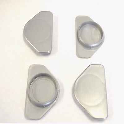 30 X 35MM HOLE COVER CAP SILVER BLANKING HOLE BUNG KITCHEN BEDROOM CABINET DOOR