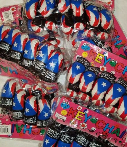 Wholesale  Puerto Rico Flag Mini Boxing Keychain key Chain Boricua /& Rican