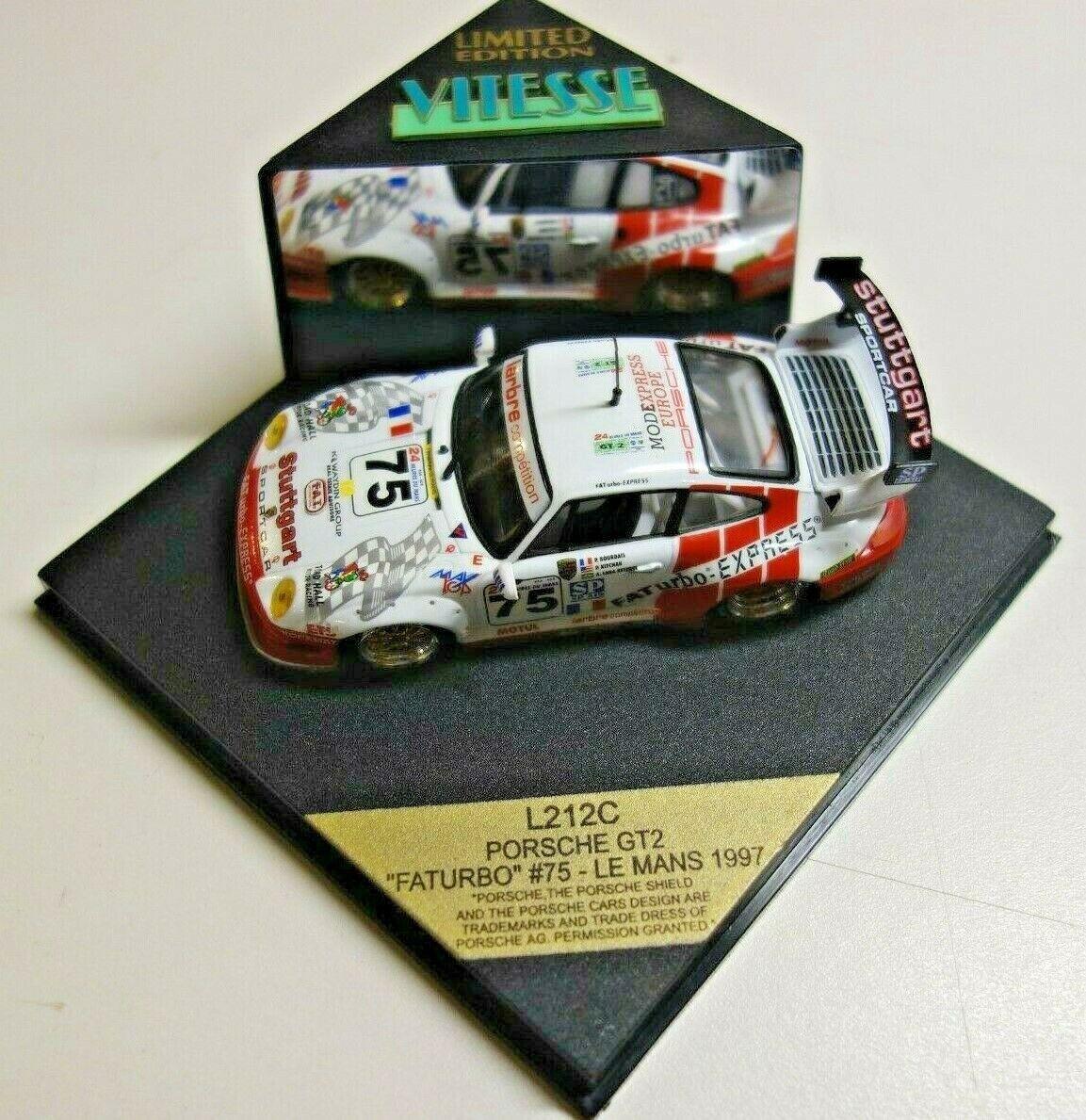 VITESSE PORSCHE GT2 911 FATURBO  75 LE MANS 1997 1 43 scale L212C