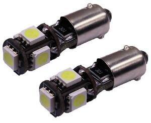 2-AMPOULES-H6W-LED-PORSCHE-CAYMAN-VEILLEUSES-ULTRA-BLANC-XENON-BAX9S