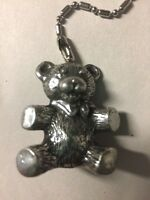 Pewter Teddy Bear Fan/light Pull Highly Detailed U.s. Made Lead-free