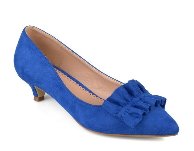 JC SABREE LADIES bleu HEEL RUFFLE chaussures Taille US 7