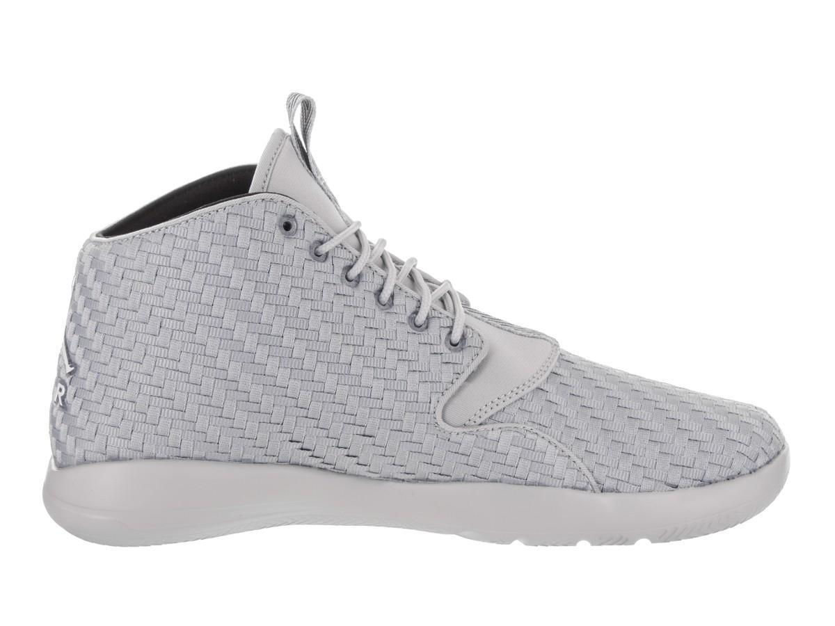 Mens NIKE JORDAN ECLIPSE CHUKKA Wolf  Gris  Basketball Trainers 881453 003