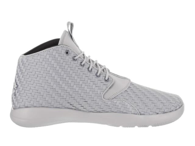 3b2325145c47a0 Mens NIKE JORDAN ECLIPSE CHUKKA Wolf Grey Basketball Trainers 881453 003