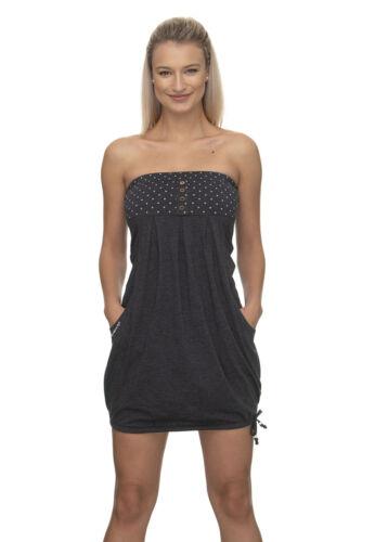 Ragwear Kleid Damen SCENE 2011-20002 Schwarz Black 1010