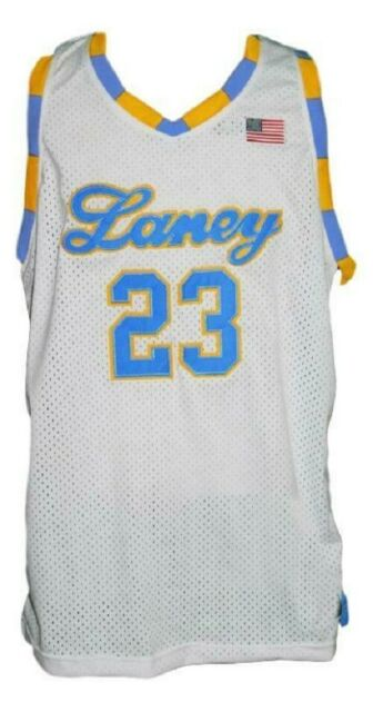 best sneakers d7a0c fe083 MICHAEL JORDAN #23 LANEY HIGH SCHOOL BASKETBALL JERSEY WHITE - ANY SIZE