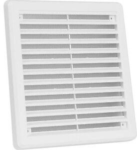 Air Vent Grille Couverture 200mm X 200mm (8inch X 8inch) Blanc-afficher Le Titre D'origine