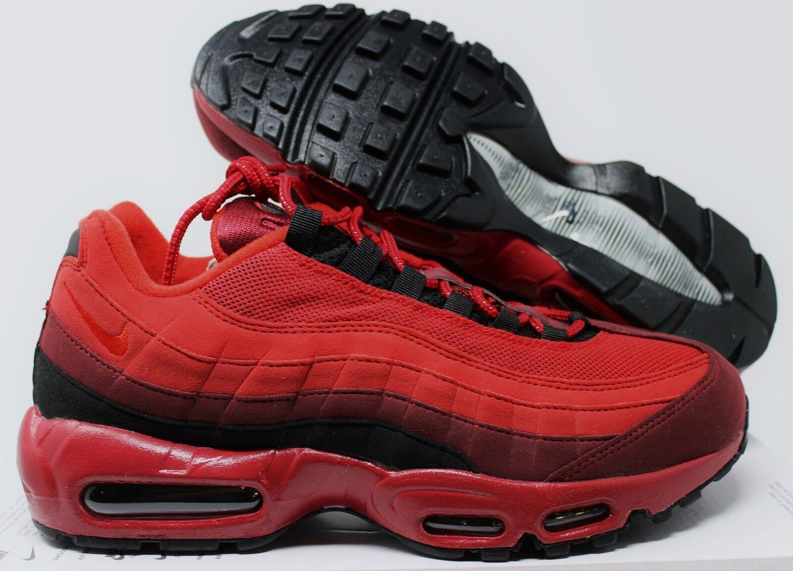 Nike Uomo Air Max 95 iD rosso-nero rosso-nero rosso-nero sz 9 [818592-996] 582df2