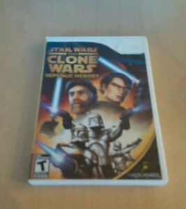 NINTENDO-WII-STAR-WARS-THE-CLONE-WARS-REPUBLIC-HEROES-USED-COMPLETE-GAME-2009