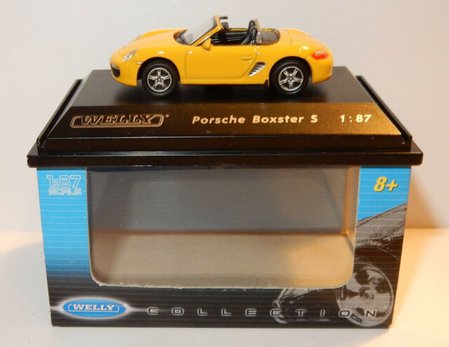 MICRO WELLY COLLECTION PORSCHE BOXSTER S YELLOW HO 1/87 IN BOX