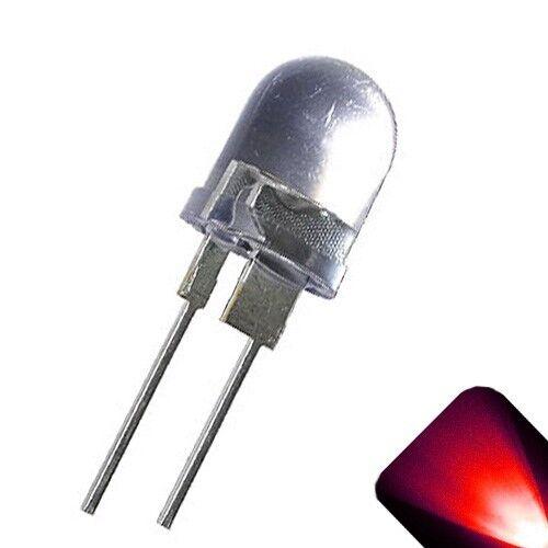 50 x LED 10mm Red .5 Watt Ultra Super Bright High Power LEDs 0.5w half 1/2 Boat