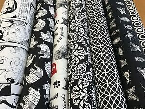 NEW-Designer-Black-amp-White-Tapestry-Quality-Upholstery-Curtain-Fabric-Geometric