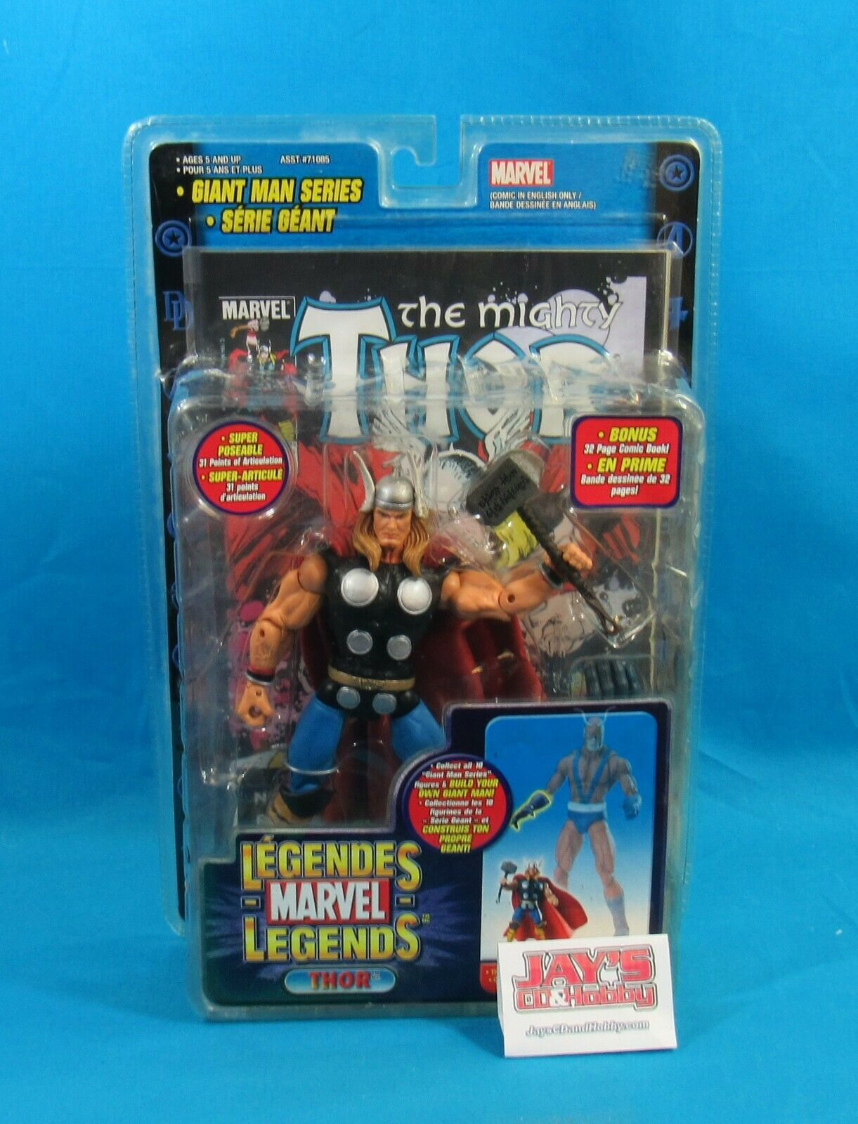 Hasbro 2006 Marvel Legends Giant uomo Series Thor azione cifra nuovo in Package