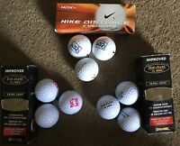 Lot Of 9 Top Flite Xl2000 & Nike Golf Ball Sport Gift Driver Putter N