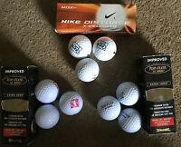 Lot Of 9 Top Flite Xl2000 & Nike Golf Ball Sport Gift Driver Putter N