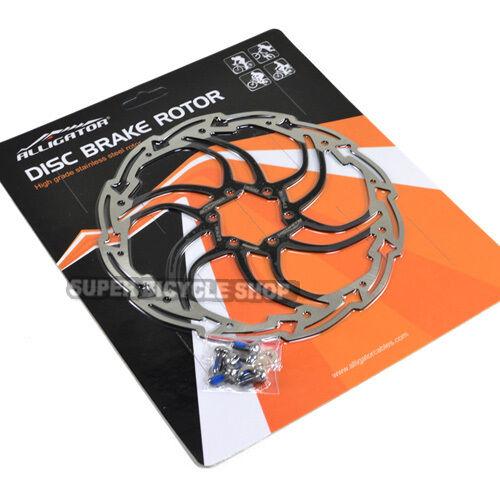 Black ALLIGATOR MOTION Stainless Disc Brake Rotor,180mm