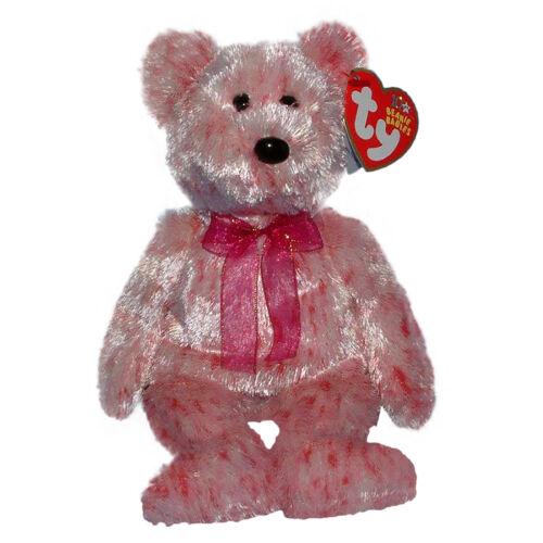 MWMT Ty Beanie Baby Smitten Valentines Bear Black nose 2002