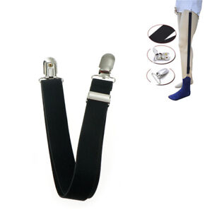 1pc-Men-Shirt-Stays-Holder-Military-Straight-Stirrup-Suspenders-Elastic-Unifo-wv