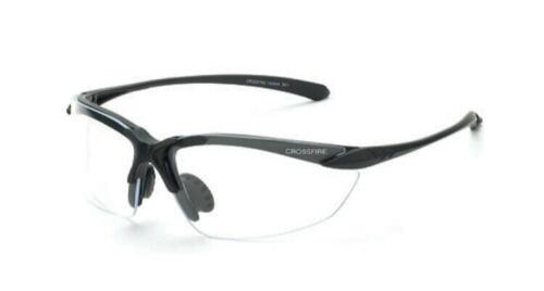 Crossfire Sniper Bifocal Lens Safety Glasses Shiny Matte Black Frame