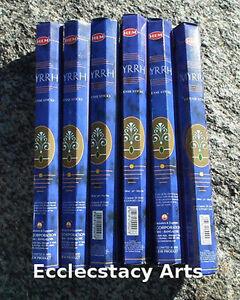 Hem-Myrrh-Incense-6-x-20-Stick-Box-120-Sticks-Bulk-Lot-NEW