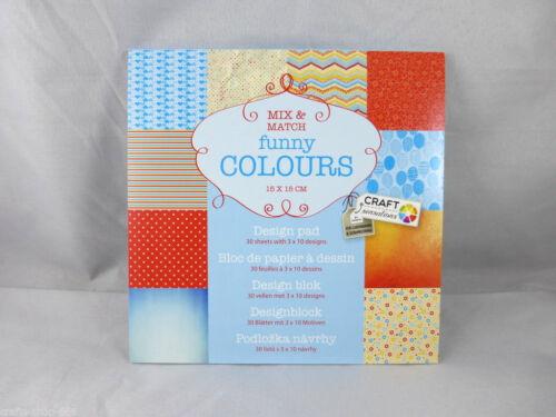 Desingblock  Funny Colours  30 Blatt  Hintergrundpapier  Scrapbooking Basteln