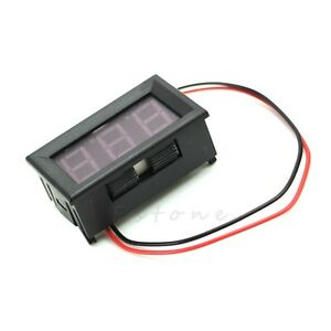 DC 5-120V Mini Voltmeter LED Red Panel 3-Digital Display Voltage Meter 2-wire