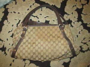 91a3ff05d84 Image is loading Used-Gucci-Monogram-Shoulder-Bag-Handbag