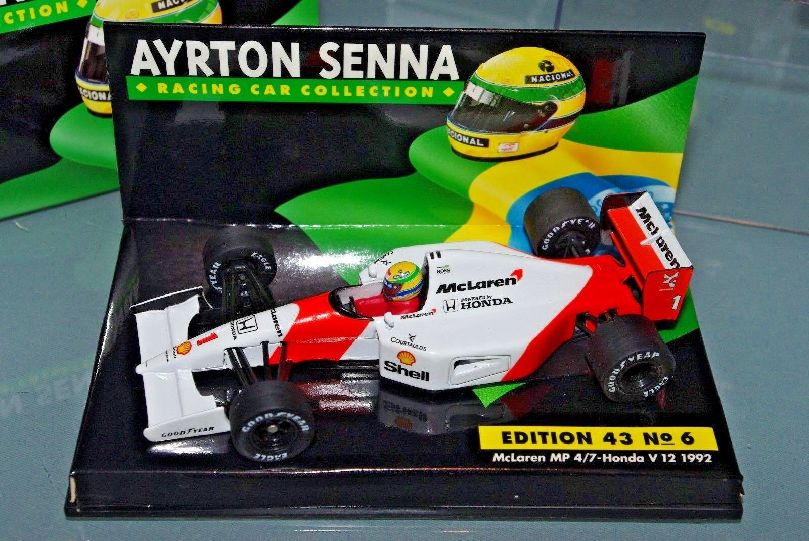 Minichamps F1 1 43 McLAREN MP4 7 HONDA V12 1992 - AYRTON SENNA COLLECTION