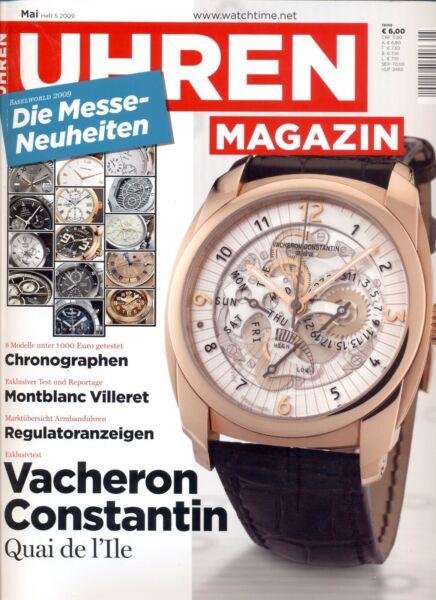 2019 Mode Uhren Magazin Mai Heft 5/2009