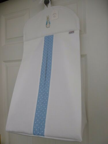 Baby Nappy Stacker Blue//White Spot Trim /'PETER RABBIT/' Nursery Shower Gift NEW